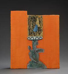 Marika Mäkelä: Wooden Madonna in Orange. Wood Carvings, Finland, Madonna, Orange, Art, Craft Art, Wood Carving, Kunst, Woodcarving