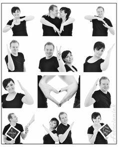Hart gevormd door de armen. Ideaal om als trouwkaart te gebruiken.