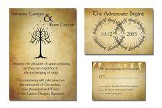 Serena Masonde » Lord Of The Rings Wedding Invites