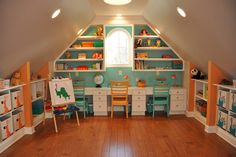 small attic play rooms | Attic play room design: ideas for decoration