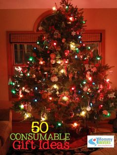 50+ Consumable Gift Ideas #christmas
