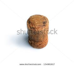 Cork  isolated on white background