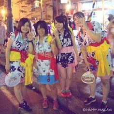 ここにもキティちゃん浴衣の女子! みんなで盛り上がれるねぶた祭り☆最高!