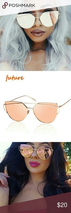 Rose Gold Cat Eyed Sunnies Will certainly turn heads and receive lots of complements when you wear these gorgeous sunnies! Accessories Sunglasses