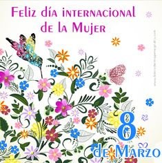 Design: International Women's Day with many flowers