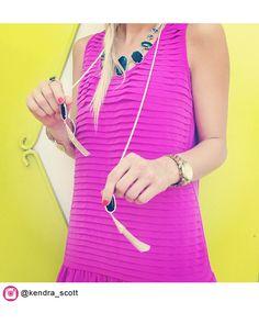 Megan Fringe Necklace in Black - Kendra Scott Jewelry