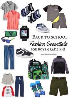 Dawn P. Darnell - Back to School Fashion Essentials for Boys Grade K-5   Dawn P. Darnell Back To School Fashion, Fashion Essentials, Boys, Senior Boys, Sons, Guys, Young Boys, Baby Boy