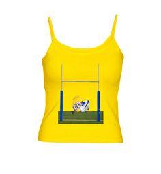 Camiseta tirantes mujer Minion Try #camisetas #rugby #minions http://www.latostadora.com/emcmasquecamisetas