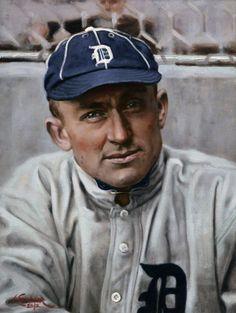 "Ty Cobb, 1912, 9"" x 12"" by Craig Kreindler"