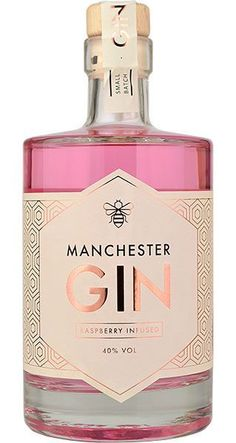 Manchester Raspberry Infused Gin is based on the original Manchester Gin recipe with its unique dandelion and burdock root botanicals, but with the addition of fresh raspberries. After distillation, further raspberries . Bottle Packaging, Brand Packaging, Packaging Design, Cocktail Pink, Pink Gin Cocktails, Pink Prosecco, Prosecco Bar, Pink Drinks, Manchester Gin