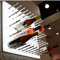 Awesome wine rack - bottles just float