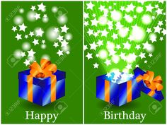 11244102-Fun-birthday-card-with-a-blue-gift-box-with-orange-ribbon-closed-and-then-opened-with-sunburts-and-s-Stock-Vector.jpg (1300×975)