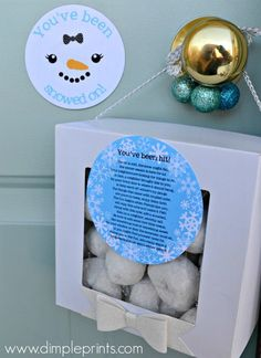 Happy Holidays: Neighbor Gift Idea-You've Been Snowed On!!