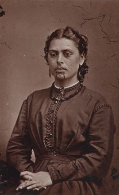 Mrs Rabone, 1871. American Photographic Company (Auckland, NZ)-beautiful Maori woman(Anika Moa looks like her)