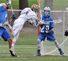 FOXBORO - Freshman goalkeeper Trevor Koppy not only stole the show, but nearly stole a pair of points and a victory for the Attleboro High boys' lacrosse team Wednesday at Foxboro High.