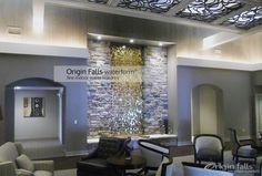 Innovation gallery image 83:   We take extra care in designing and fabricating the finest custom indoor waterfalls. Image