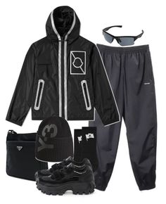 """""""Sans titre #1163"""" by a4styled ❤ liked on Polyvore featuring Balenciaga, Uniqlo, Prada, Y-3, Juun.j, men's fashion, menswear and A4STYLED"""