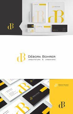 Criação da identidade visual completa, Débora Bohrer Arquitetura e Urbanismo.  Logo para arquiterura.  Chapecó – SC