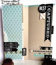 TERESA COLLINS DESIGN TEAM: Yvonne Blair Gratitude Journal featuring Memorabilia