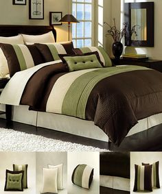 Comforter Sets Chocolate Brown Brown And Green Hotel