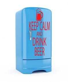 KEEP CALM AND DRINK BEER Kitchen/Fridge/Beer Fridge - Vinyl Wall Art Sticker Decal
