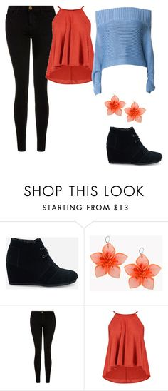 """""""Untitled #75"""" by sk8terqueen on Polyvore featuring TOMS, Dsquared2, Current/Elliott and TIBI"""