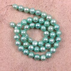 Mint Green Freshwater Potato Pearls 16 inch by marketplace beads Awesome bead shop!  www.marketplacebeads.etsy.com
