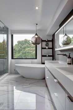 Contemporary Bathroom Designs, Modern Home Interior Design, Bathroom Interior Design, Modern Design, Modern Contemporary, Luxury Interior, Hall Interior, Marble Interior, Interior Painting