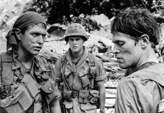 """""""Platoon"""" with Tom Berenger, Mark Moses, and Willem Dafoe, 1986 (Orion Pictures)"""