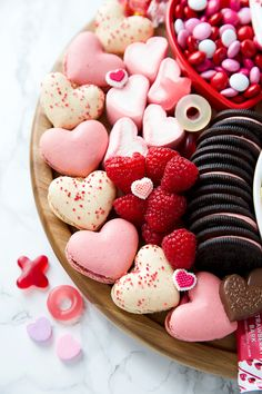Heart Shaped Macarons - dessert charcuterie board