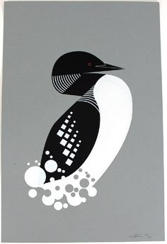 Loon print by Eleanor Grosch - Owls, Foxes & Bears - Gallery