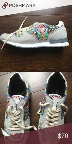 INKKAS Brazil Sneakers Gray with Multi-colored detailing Sneakers. Comfy but but never really fit and then realized they were wrong size. https://inkkas.com/collections/womens-jogger/products/new-edition-brazil-jogger?variant=19373398021 inkkas Shoes Athletic Shoes