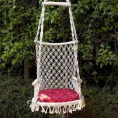 hammock chair..... could be a DIY