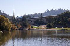 Marin County Civic Center. 1960-76. San Rafael, California. Frank Lloyd Wright. Photo by Evan Chakroff.