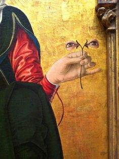 Francesco del Cossa, Saint Lucy(detail), c. 1473/1474, tempera on panel.  National Gallery of Art, Washington, D.C.