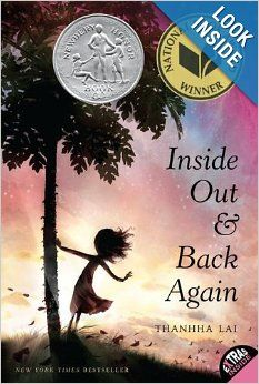 Inside Out and Back Again: Thanhha Lai: 9780061962790: Amazon.com: Books  Gorgeous, complex, accessible, powerful novel written as a series of poems that explores a Vietnamese girl's journey from Vietnam at the end of the war to America as an immigrant.  It's a wonderful book for the classroom, grades 5-12, if you're studying immigration, conflict, refugees, the Vietnam War, intercultural awareness, etc.