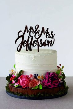 Mr&Mrs Wedding Cake Topper Personalization Cake Topper Last Name Wooden Mr and Mrs Cake Topper Customized Wedding Wooden Wedding Cake Topper Wedding Cake Rustic, Fall Wedding Cakes, Wedding Cake Designs, Wedding Cupcakes, Wedding Cake Toppers, Rustic Cake, Yard Wedding, Brunch Wedding, Casual Wedding