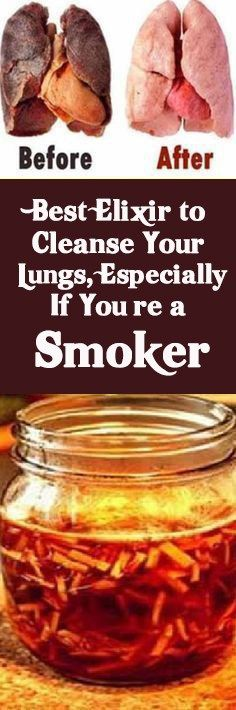Best Elixir to Cleanse Your Lungs, Especially If You're a Smoker #smoker #clean #lungs #especially #health #kidney #cancer