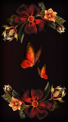 hayal,dream,wallpaper,flower - Best of Wallpapers for Andriod and ios Flower Phone Wallpaper, Butterfly Wallpaper, Butterfly Flowers, Cellphone Wallpaper, Flower Art, Butterfly Kisses, Butterflies, Blue Butterfly, Beautiful Flowers Wallpapers