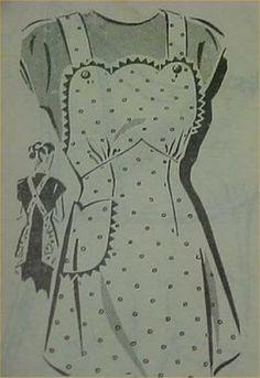 criss cross back vintage apron pattern