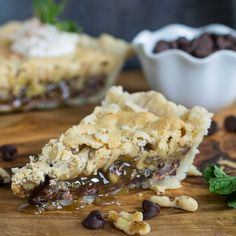 Thoroughbred Pie loaded with walnuts and chocolate and a splash of bourbon.