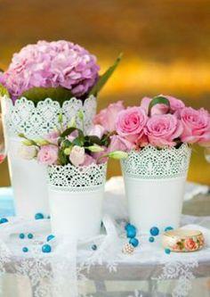 Blumen im Teelicht/Blumentopf von Ikea