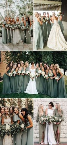 Trend sage green bridesmaid dress ideas for 2018 and 2019 - # bridesmaid . Trend sage green bridesmaid dress ideas for 2018 and 2019 – # Bridesmaids Country Bridesmaid Dresses, Bridesmaid Dresses Sage Green, Bridesmaid Ideas, Fall Wedding Bridesmaids, Burgundy Bridesmaid, Bridesmaid Dress Colors, Country Dresses, Bridesmaid Gowns, Boho Wedding