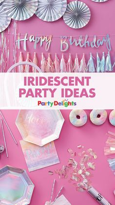 Looking for a grown-up party theme? Or a really stylish party theme? Find out how to throw a beautiful iridescent party with our new iridescent party supplies. Perfect for a unicorn birthday party or unicorn party theme.... or any other occasion for that matter!