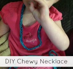 DIY Chewelry Necklace Tutorial - Super Simple!