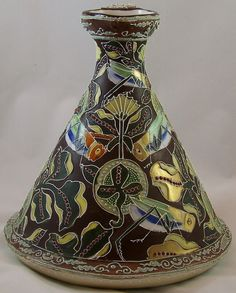 COLLECTOR'S DREAM VASE, OLD NORITAKE NIPPON VASE, MORIAGE GRASSHOPPERS & GOLD $2,800.00 Vintage Vases, Vintage Ceramic, Clarice Cliff, Noritake, Porcelain Vase, Antiquities, Stained Glass, Glass Art, Arts And Crafts