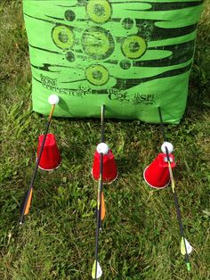 """Bow Hunting, """"Arrow Pong"""" on Father's Day 2014, Cross Bow Hunting, Target Practice."""