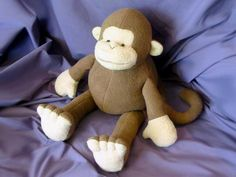 Mitch the Monkey Soft Toy Sewing Pattern INSTANT DOWNLOAD