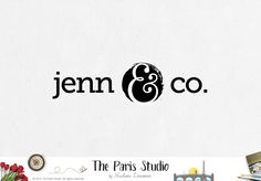 Typographic Ampersand Logo Design – The Paris Studio – Creative Logo Design Branding NYC – Paris Logo Restaurant, Web Design, Graphic Design, Website Logo, Website Header, Blog Logo, Boutique Logo, Wedding Logos, Creative Logo