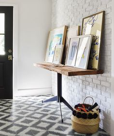 A small space is the ideal place for a risky design move, like these eye-catching tiles.